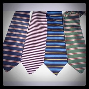 4 Brooks Brothers Silk Striped Repeat Ties Necktie